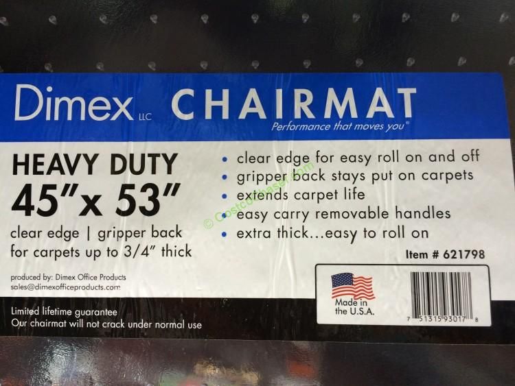 "heavy duty office chair mat for carpet swing sale dimex 45"" x 53"" clear edge – costcochaser"