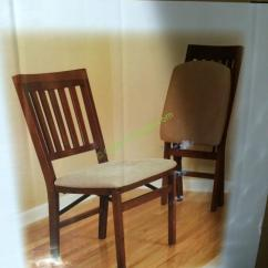 Costco Wooden Folding Chairs Best Back Support For Office Chair Uk Stakmore Solid Wood With Padding Seat Costcochaser 899431 Pic