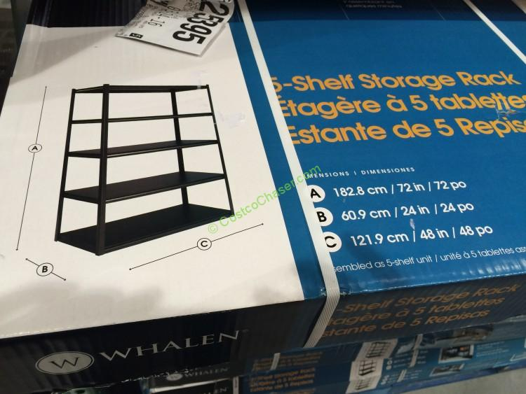 Whalen 5Shelf Storage Rack IndustrialStrength Steel Construction  CostcoChaser