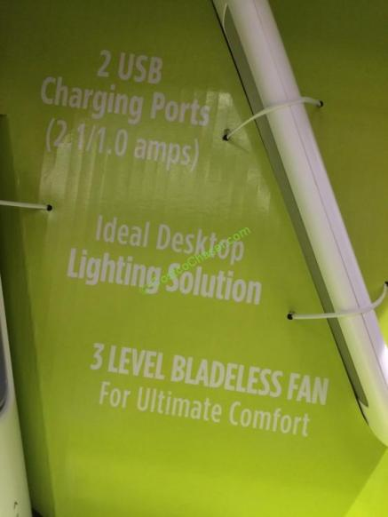 Intek Led Desk Lamp With Bladeless Fan Model Sl9066 2
