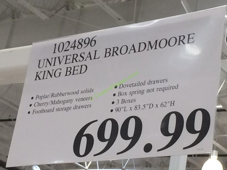 Universal Furniture Broadmoore Queen Cal King Bed With