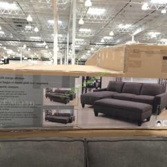 Chaise Sofa With Ottoman Costco Navy Futon Bed Fabric Sectional Storage Costcochaser 1043728 Box