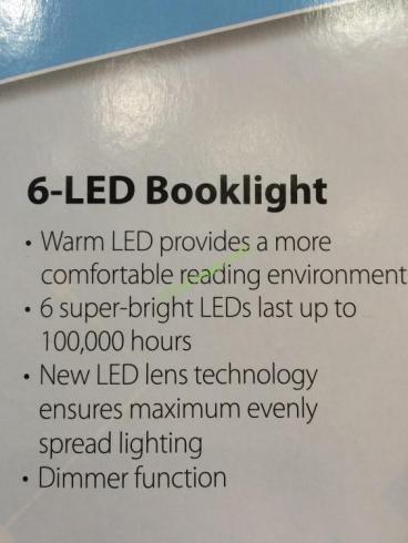 Costco-1055843-Ultra-Bright-LED-Booklight-spec