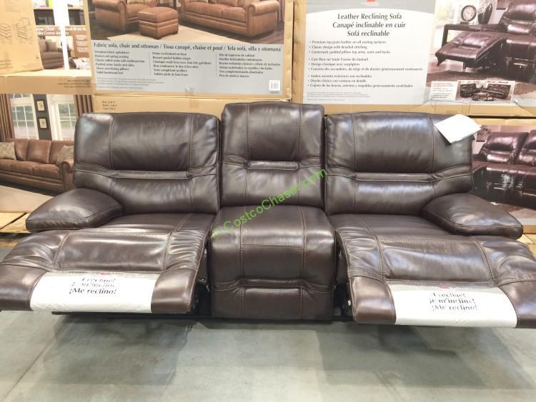 top grain leather sofa set french love seat costco – home decor