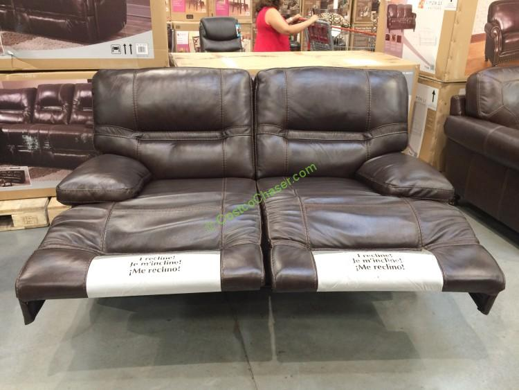 Costco Leather Reclining Sofa Cheers Clayton Motion