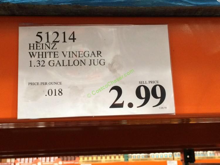 Heinz White Vinegar 132 Gallon Jug  CostcoChaser