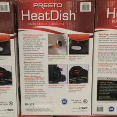 Costco Kitchen Aid Red Countertops Presto Heatdish Parabolic Heater – Costcochaser