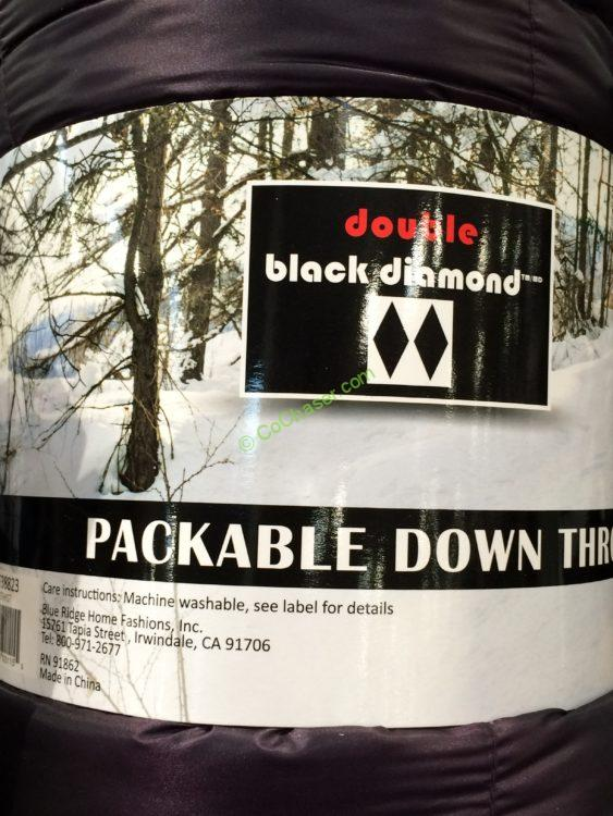 Double Black Diamond Packable Down Throw 60 x 70