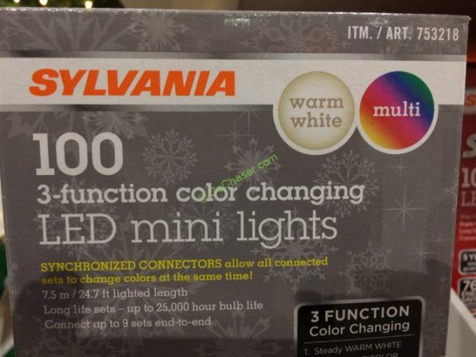 costco led christmas lights 100 bulbs christmaswalls co - Sylvania Led Christmas Lights