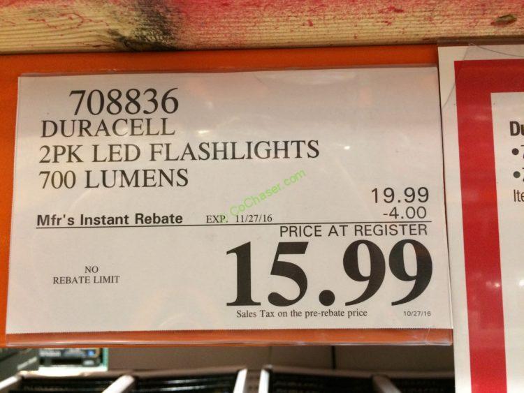 Duracell 2 Pack Led 700 Lumens Flashlight Costcochaser