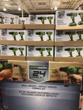 Costco-709992- Greenworks-24V-Drill-Driver-Impact-Driver-Combo-all