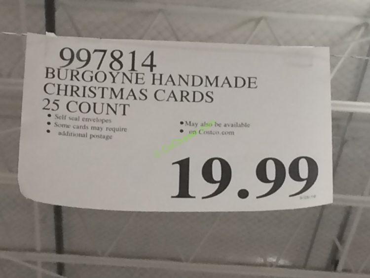 Burgoyne Handmade Christmas Cards Set 25 Count CostcoChaser
