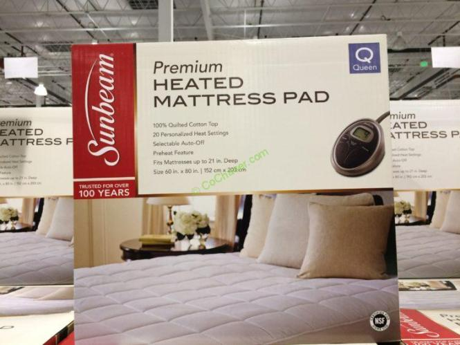 Costco 141253 141254 Sunbeam Premium Quilted Heated Mattress