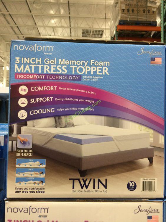 Costco 9816224 Novaform Serafina Tricomfort Memory Form Mattress