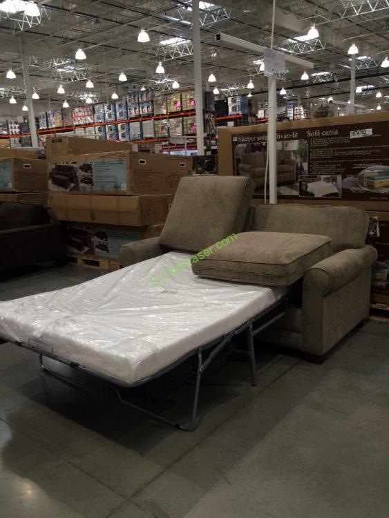black leather sleeper sofa set pet proof costco-1074703-synergy-home –sleeper-sofa – costcochaser