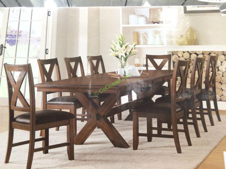 costco leather chairs baby high chair cost bayside furnishings 9pc dining set, model# 0078-a – costcochaser