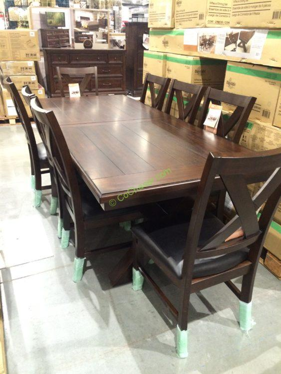 Bayside Furnishings 9PC Dining Set Model 0078A