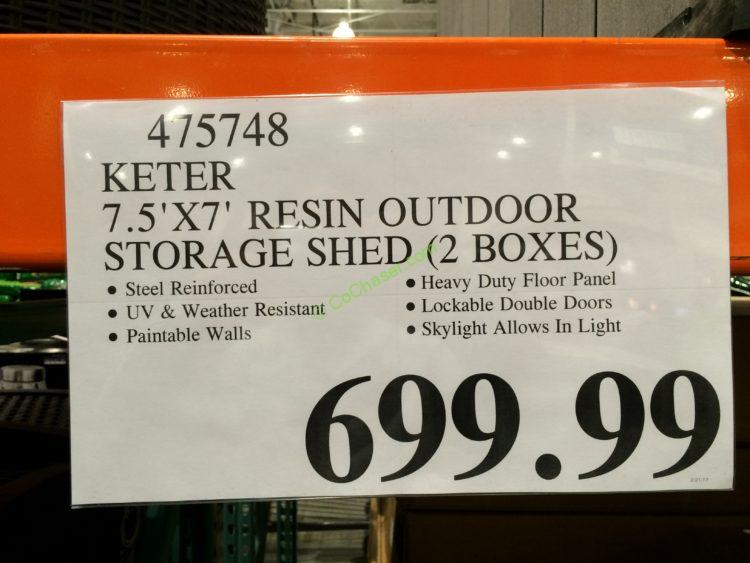 Keter 75 X 7 Resin Outdoor Storage Shed  CostcoChaser