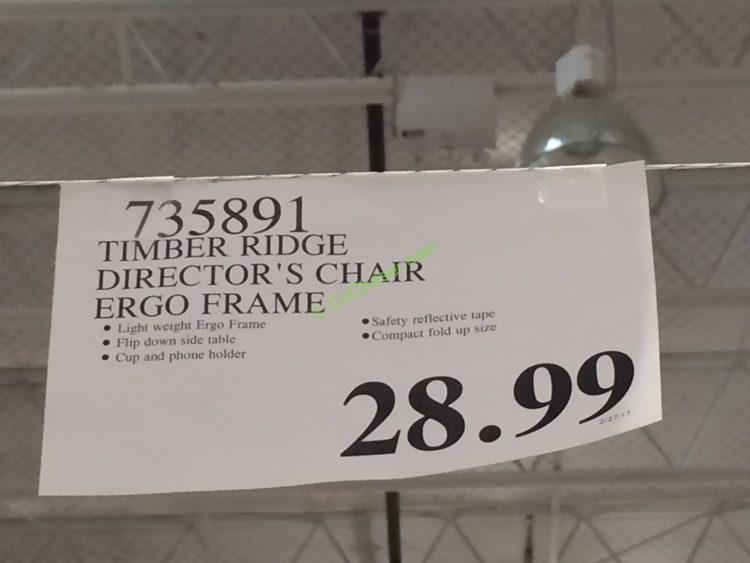 Timber Ridge Director S Chair Ergo Frame Costcochaser