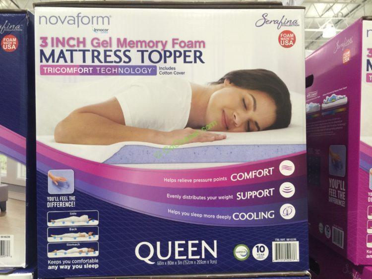 Novaform Serafina TriComfort 3 Gel Memory Foam Mattress