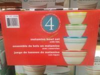 4 Melamine Mixing Bowls Set with Lids  CostcoChaser