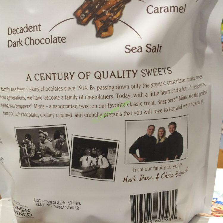 Costco Home Store Locations: Edward MARC Snappers Dark Chocolate SS MINI 24 Ounce Bag