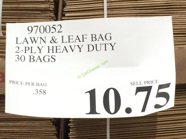 Lawn  Leaf Bag 2Ply Heavy Duty 30 Bags  CostcoChaser
