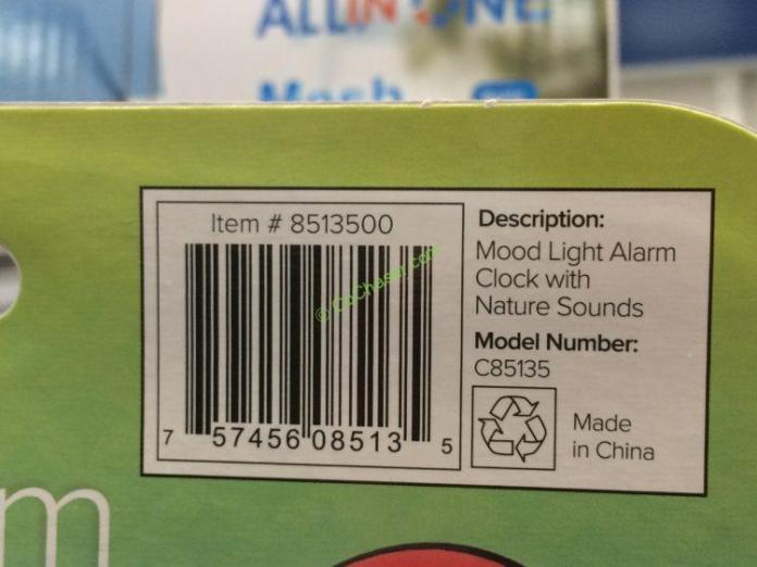 La Crosse Mood Light Color Lcd Alarm Clock Model C85135