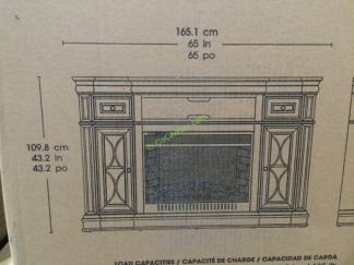 Bayside Furnishings Electric Fireplace 65 Media Console