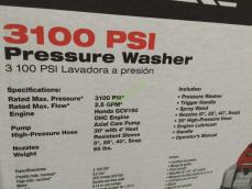 Costco-1166325-PowerStroke-3100-PSI-Honda-Powered-Gas-Pressure-Washer-spec