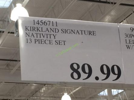 Costco-1456711-Kirkland-Signature-Nativity-13 Piece-Set-tag