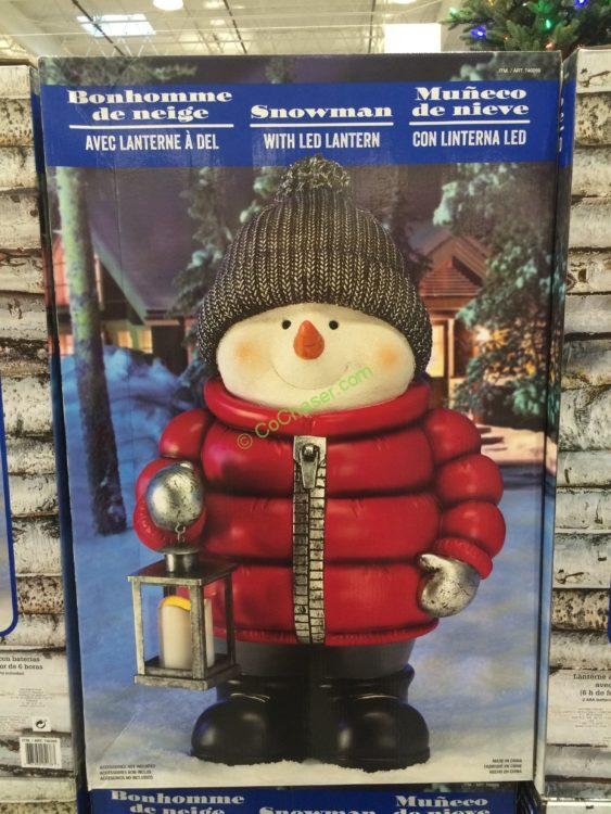 Standing Snowman with LED Lantern – CostcoChaser