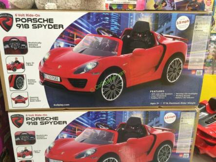 Rollplay 6v Porsche 918 Spyder Ride On Costcochaser