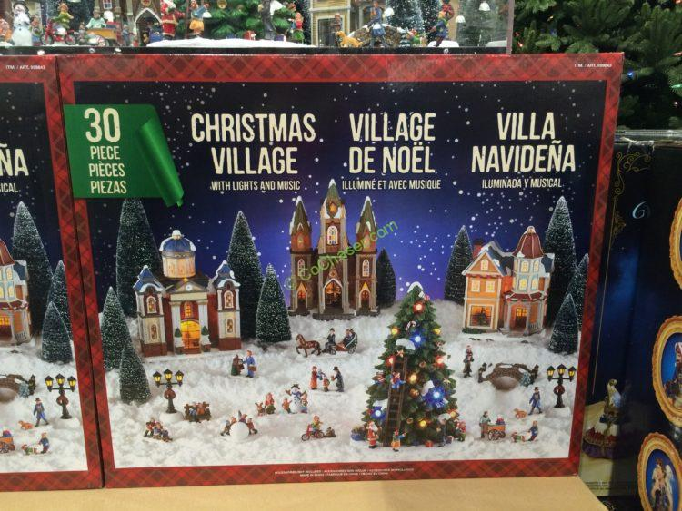 Christmas Village 30 Piece Battery Operate Set Enjoy The