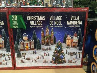 costco 999843 christmas village led lights music box