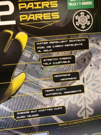 Mike Holmes Winter Goatskin Gloves 2pk Costcochaser