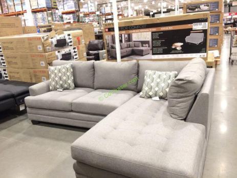 Pleasing True Innovations Fabric Sectional Costcochaser Creativecarmelina Interior Chair Design Creativecarmelinacom