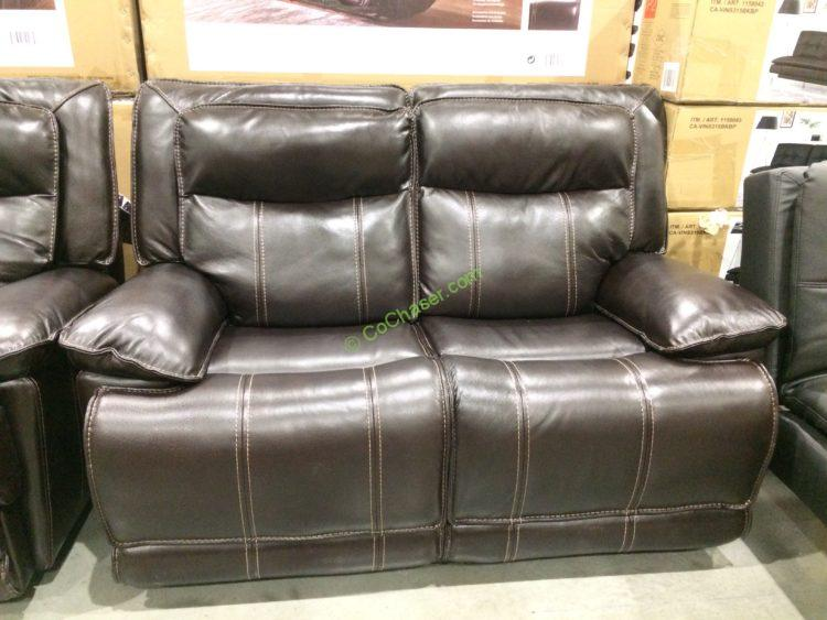 motorized sectional sofa brown leather electric costco reclining sofas sectionals ...
