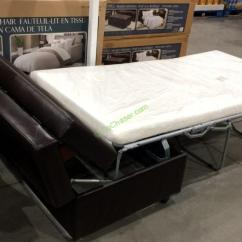 Costco Fabric Reclining Sofa Walmart Larkin Table Synergy Home Sleeper Ottoman – Costcochaser