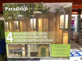 Paradise Solar Led Post Lights 4 Pack Set Costcochaser