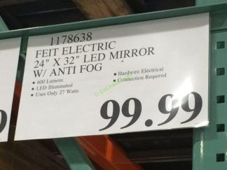 Feit Electric Led Mirror 24 X 32 With Anti Fog