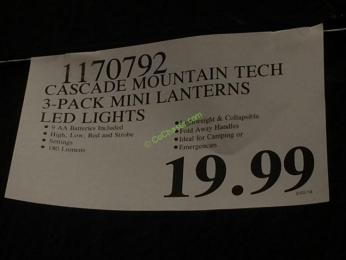 Costco-1170792-Cascade-Mountain-Tech-3-pack-Mini-Lantern-tag