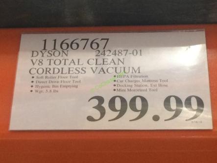 Costco-1166767- Dyson V8 Total Clean Cordless Vacuum-tag