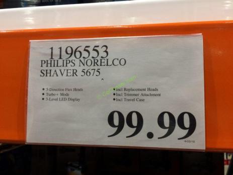 Costco-1196553-Philips-Norelco-Shaver5675-tag
