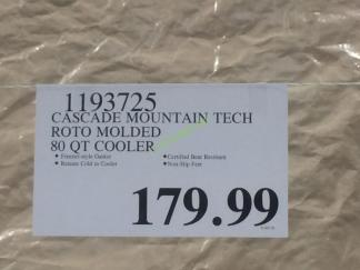Costco-1193725-Cascade-Mountain-Tech-Roto-Molder-80QT-Cooler-tag