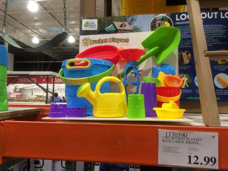 17pc bucket playset with