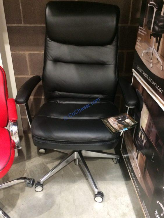 desk chair costco iron kitchen chairs beautyrest black executive office model 49650 costcochaser 2000860