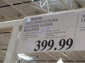Costco-1900166-True-Innovations-Leather-Glider-Recliner-tag