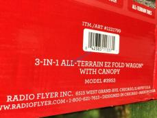 Radio Flyer 3 In 1 All Terrain Ez Fold Wagon With Canopy