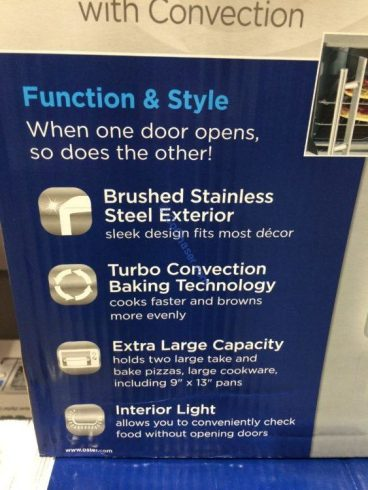 Costco-1234400-Oster-Digital-French-Door-Countertop-Oven-spec